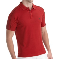 Victorinox Swiss Army Sleeve-Print Polo Shirt - Pima Cotton-CoolMax®, Short Sleeve (For Men) in 618 Victorinox Red