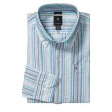 Victorinox Swiss Army Stripe Shirt - Linen-Cotton, Long Sleeve (For Men) in Spring Blue - Closeouts