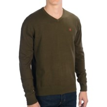 Victorinox Swiss Army Suisse V-Neck Sweater - Stretch Cotton Blend, Long Sleeve (For Men) in Mineral Green - Closeouts