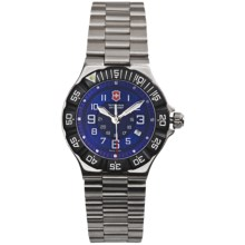 Victorinox Swiss Army Summit XLT Watch - Stainless Steel Bracelet (For Women) in Blue/Silver - Closeouts