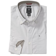 Victorinox Swiss Army Tattersall Shirt - Stretch Poplin, Long Sleeve (For Men) in Pewter - Closeouts