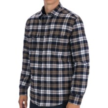 Victorinox Swiss Army Thorton Flannel Utility Shirt Jacket - Insulated (For Men) in Shuttle Blue Plaid - Closeouts