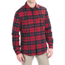 Victorinox Swiss Army Thorton Tartan Overshirt - Long Sleeve (For Men) in Navy - Closeouts