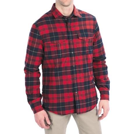 Victorinox Swiss Army Thorton Tartan Overshirt - Long Sleeve (For Men) in Navy