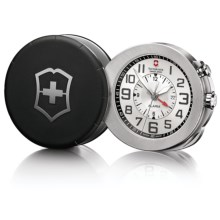 Victorinox Swiss Army Travel Alarm Pocket Watch - Limited Edition in Black/Silver - Closeouts