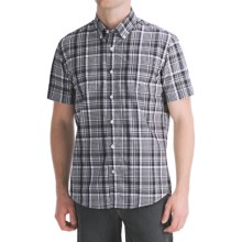 Victorinox Swiss Army Vilamont Plaid Shirt - Short Sleeve (For Men) in Navy - Closeouts