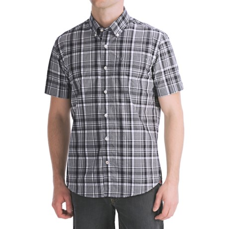 Victorinox Swiss Army Vilamont Plaid Shirt - Short Sleeve (For Men) in Navy