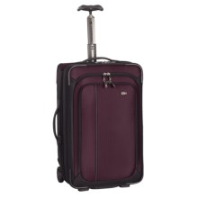"Victorinox Swiss Army Werks Traveler 4.0 Expandable Wheeled Carry-On Suitcase - 22"" in Purple/Black - Closeouts"