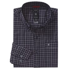 Victorinox Swiss Army Windowpane Plaid Shirt - Long Sleeve (For Men) in Navy - Closeouts