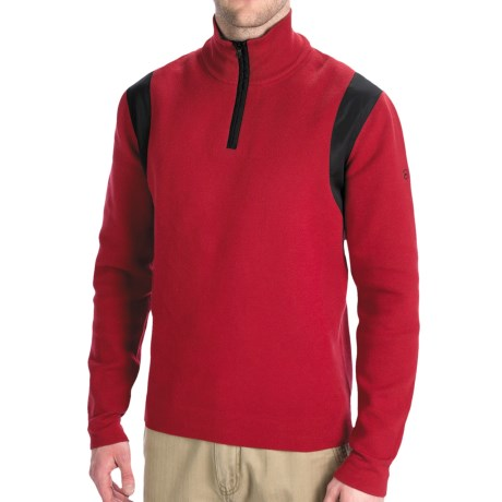 Victorinox Traveler Sweater - Zip Neck (For Men) in Victorinox Red