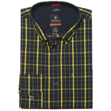 Victorinox Vals Windowpane Shirt - Long Sleeve (For Men) in Canyon Yellow - Closeouts