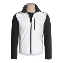 Victorinox Windproof Soft Shell Jacket (For Men) in Classic White/Black - Closeouts
