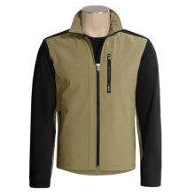 Victorinox Windproof Soft Shell Jacket (For Men) in Sahara Khaki/Black - Closeouts