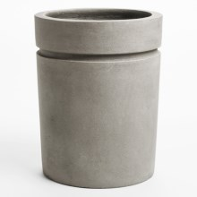 "Viducci's Garden Riverside Park Cylindrical Planter - 24x29"" in Cornish Stone - Closeouts"