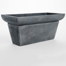 "Viducci's Garden Villa Venezia Short Rectangle Planter - 39x18"" in Lead - Closeouts"