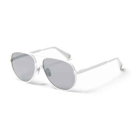 6595d199491 VILEBREQUIN Klaxon Mirror Sunglasses - Glass Lenses (For Men and Women) in  Blanc