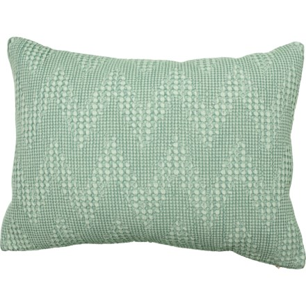 """f632e4bd362339 Villa by Classic Home Spa Stonewashed Fabiana Throw Pillow - 14x20"""",  Feathers in Spa"""