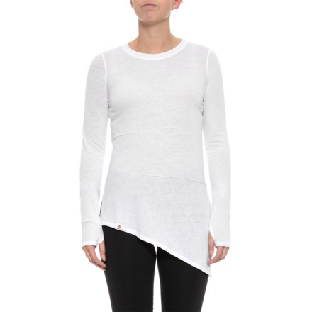 74d1ccb81807d7 Pacific Pintuck Tie T-Shirt - Long Sleeve (For Women) in White -