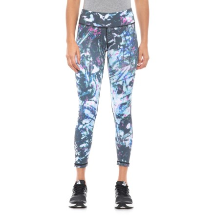 Printed High-Waist Basic Ankle Leggings (For Women) in Solstice 965583e3a8f60
