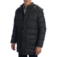 Vince Camuto Flannel Down Jacket - Hooded (For Men) in Charcoal - Closeouts