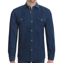 Vineyard Vines Guide Boat Shirt - Long Sleeve (For Men) in Blue Blazer - Closeouts