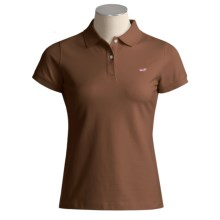 Vineyard Vines Susie Fit Polo Shirt - Short Sleeve (For Women) in Cocoa - Closeouts