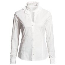 Vineyard Vines Victoria Ruffle Shirt - Long Sleeve (For Women) in White Cap - Closeouts