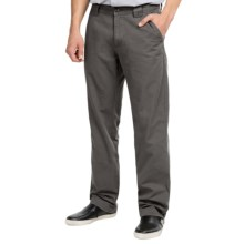 Vintage 1946 Cotton Canvas Utility Pants - Flat Front (For Men) in Grey - Closeouts