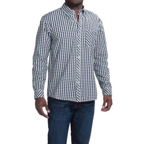 Vintage 1946 Cotton Gingham Shirt Button Down Collar, Long Sleeve (For Men)