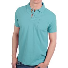 Vintage 1946 Cotton Pique Polo Shirt - Short Sleeve (For Men) in Aqua - Closeouts