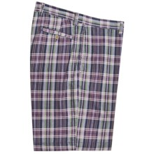 Vintage 1946 Cotton Plaid Shorts (For Men) in Purple - Closeouts