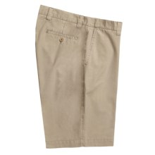 Vintage 1946 Cotton Poplin Shorts - Flat Front (For Men) in Khaki - Closeouts