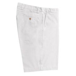 Vintage 1946 Cotton Poplin Shorts - Flat Front (For Men) in White