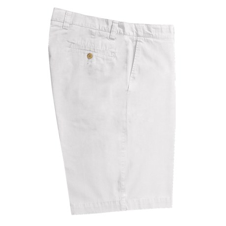 Vintage 1946 Cotton Poplin Shorts - Flat Front (For Men) in White