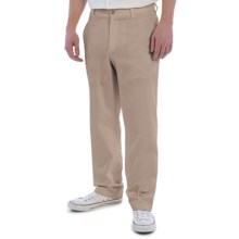 Vintage 1946 Cotton Twill Pants - Flat Front (For Men) in Khaki - Closeouts