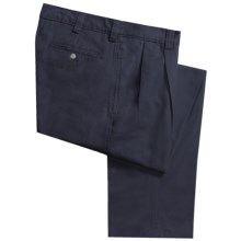 Vintage 1946 Cotton Twill Pants - Pleated Front (For Men) in Navy - Closeouts