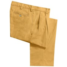 Vintage 1946 Cotton Twill Pants - Pleated Front (For Men) in Sunshine - Closeouts