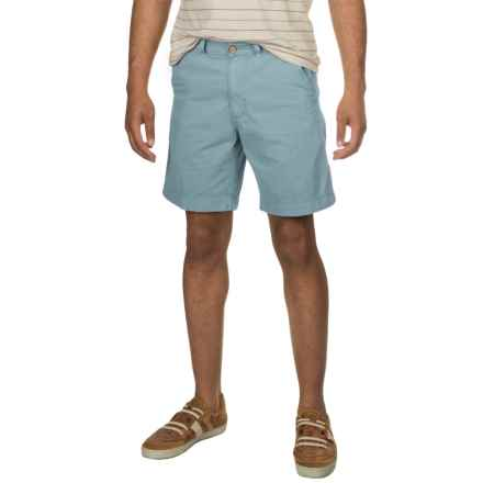 Vintage 1946 Cotton Twill Shorts (For Men) in Citadel Blue - Closeouts