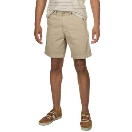Vintage 1946 Cotton Twill Shorts (For Men) in Stone - Closeouts