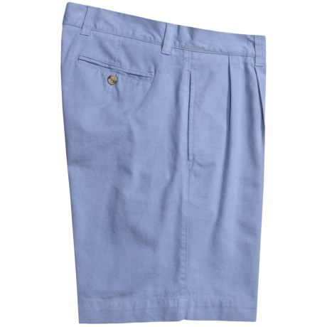 Vintage 1946 Cotton Twill Shorts - Pleated (For Men) in Sky Blue