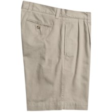 Vintage 1946 Cotton Twill Shorts - Pleated (For Men) in Stone - Closeouts