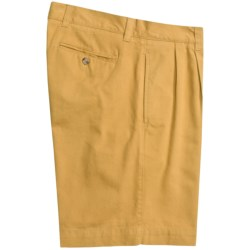 Vintage 1946 Cotton Twill Shorts - Pleated (For Men) in Sunshine