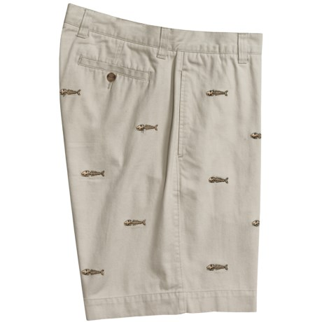 Vintage 1946 Embroidered Cotton Twill Shorts (For Men) in White/Anchor