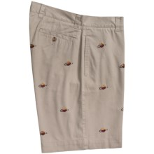 Vintage 1946 Embroidered Cotton Twill Shorts (For Men) in Fly - Closeouts