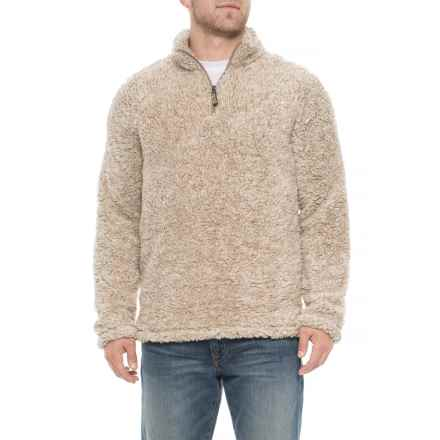 Vintage 1946 Frosted Tip Sherpa Sweater - Zip Neck (For Men) in Natural - Overstock