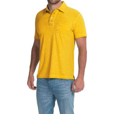 Vintage 1946 Garment-Dyed Polo Shirt - Cotton, Short Sleeve (For Men) in Sun - Closeouts