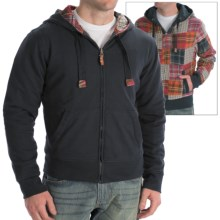 Vintage 1946 Hoodie Sweatshirt - Reversible (For Men) in Patchwork/Navy - Closeouts