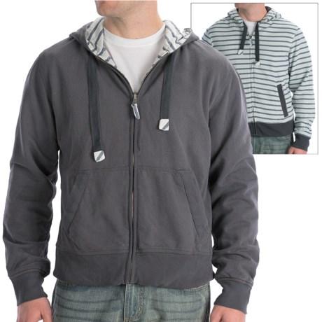 Vintage 1946 Hoodie Sweatshirt - Reversible (For Men) in Tatersal/Taupe
