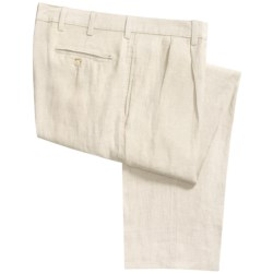 Vintage 1946 Linen Pants - Pleated (For Men) in White