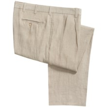 Vintage 1946 Linen Pants - Pleated (For Men) in Natural - Closeouts